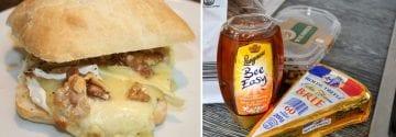 Ciabatta met brie, honing en walnoten uit de Airfryer