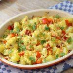 Wat eten we vandaag: Heerlijke bloemkool schotel met paprika en kerrie uit de Airfryer!