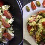 Ook zo gek van Feta? Dan is deze Griekse gebakken feta salade uit de Airfryer echt wat voor jou